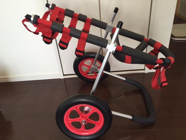 フラットコーテッドレトリーバー 平次ちゃん&日本スピッツ ももじちゃんの犬用車椅子♪