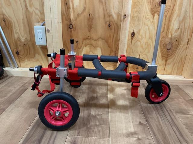 福岡県のミックス犬 ランちゃんの犬の車椅子