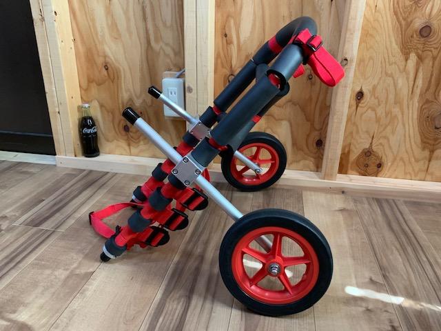 埼玉県のシェットランドシープドッグ ふうちゃんの犬の車椅子が完成しました。