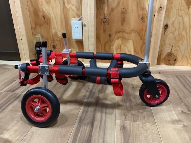 北海道のミニチュアダックスフンド すずちゃんの犬の車椅子